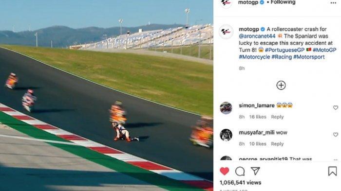 Detik-detik Pebalap Moto2 Aron Canet Lolos dari Maut saat Alami Kecelakaan