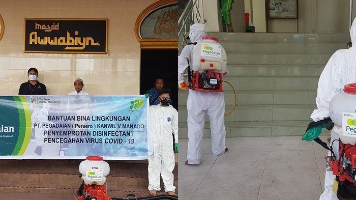Pegadaian Peduli, Donasikan APD untuk Para Medis dan Gelar Disinfeksi di Rumah Ibadah