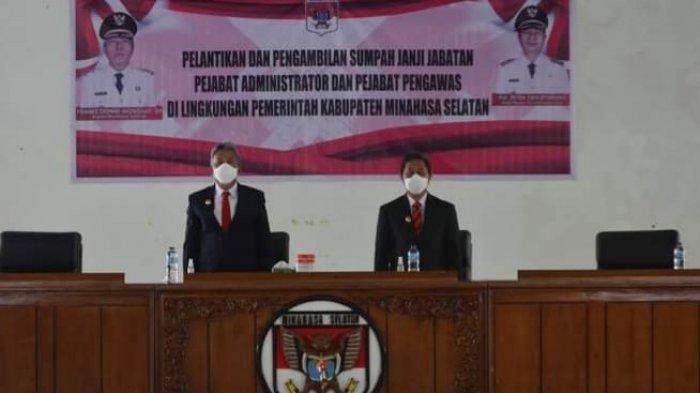 Bupati Minsel Franky Wongkar Lantik Tujuh Pejabat Eselon III dan IV