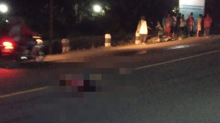 Tabrakan Maut Tadi Malam, Pejalan Kaki Tewas, Mobil Xenia Melaju dari Selatan Jemput Ajal Joar