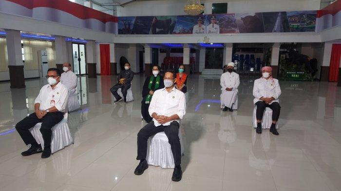Pelaksanaan Doa bersama lintas agama di Bitung yang digagas Presidium BKSAUA dan pemkot Bitung.