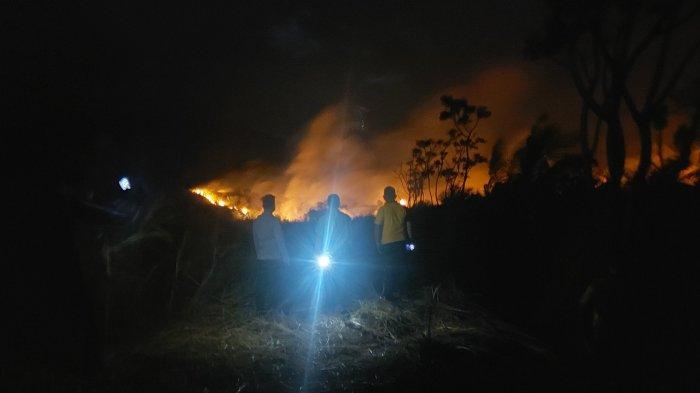 Kebakaran Taman Wisata Alam Batu Angus Bitung, Api Baru Padam 8 Jam