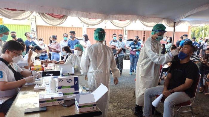 Peserta SKD CPNS Sitaro Mulai Jalani Pemeriksaan Rapid Test Antigen