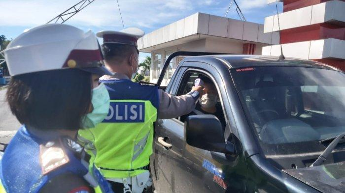 pelaksanaan penyekatan orang yang masuk ke Bitung kembali dilakukan petugas gabungan di KEK Bitung, dalam upaya pencegahan mata rantai pandemi Covid 19