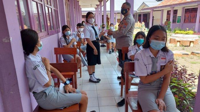 139 Siswa SMA di Kota Bitung Jalani Vaksinasi