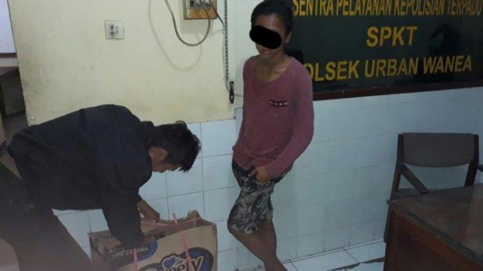 Mencuri Makanan Ringan di Warung, Putra Warga Pakowa Diamankan Polsek Wanea