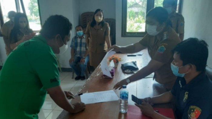 Proses Mediasi Pelanggaran Penanganan Covid-19 di Tarohan Kabupaten Talaud