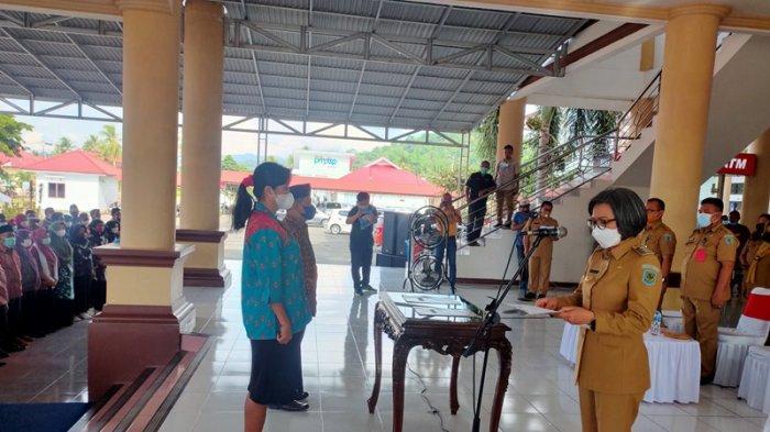 Bupati Yasti Mokoagow Minta Anggota BPD Bolmong Ikut Vaksinasi Covid-19 Hingga Tahap Dua