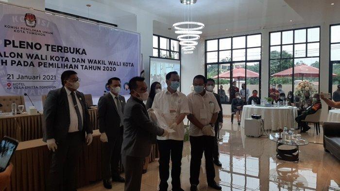 Pelantikan CS-WL Sebagai Wali Kota dan Wakil Wali Kota Tomohon Diagendakan 17 Februari 2021