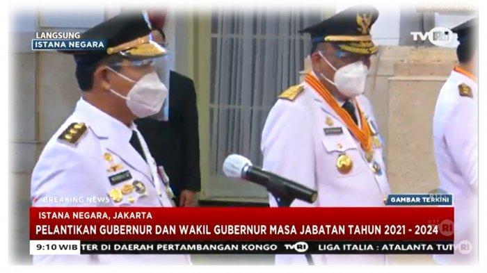 Pelantikan Gubernur Sulut dan Gubernur Kaltara di Istana Negara