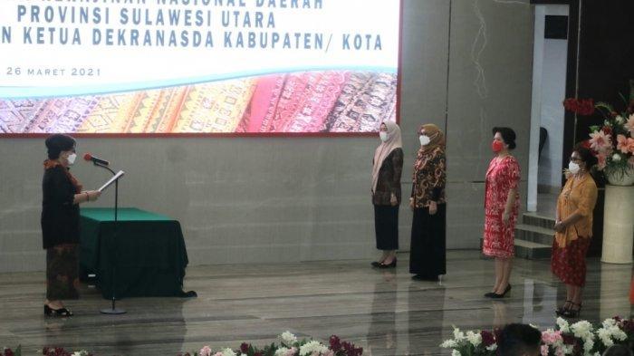 Dilantik Sebagai Ketua Dekranasda, Jeand'arc Karundeng Siap Kembangkan Potensi Pengrajin Lokal