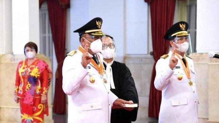 Pelantikan Olly Dondokambey SE dan Drs Steven Kandouw di Istana Negara.