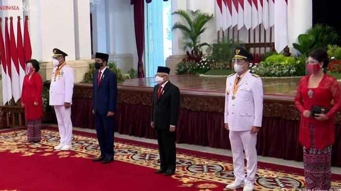 Pelantikan Olly Dondokambey SE dan Drs Steven Kandouw sebagai Gubernur dan Wakil Gubernur Sulut periode 2021-2021.