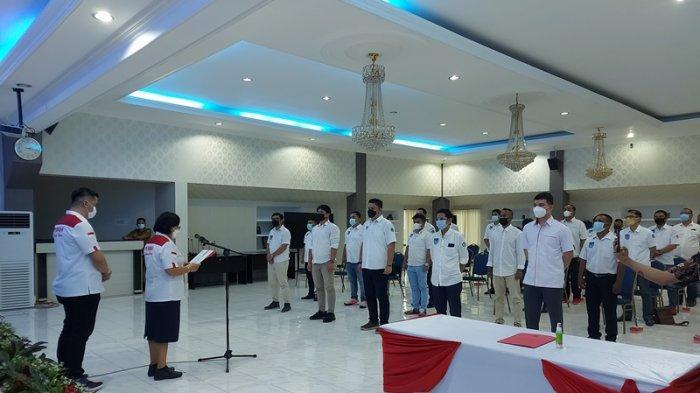 pelantikan pengurus kota (Pengkot) Perbasi Bitung oleh Adriana Dondokambey selaku ketua Pengprov Perbasi Sulut