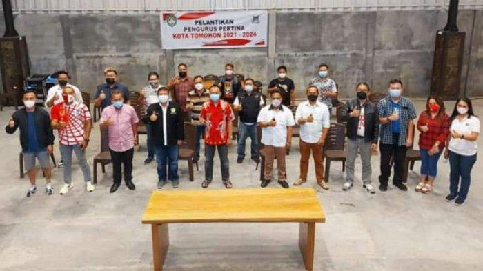 Pengurus Pertina Tomohon Resmi Dilantik, WL Nyatakan Pemkot Siap Suport Pelaksanaan Event Tahunan