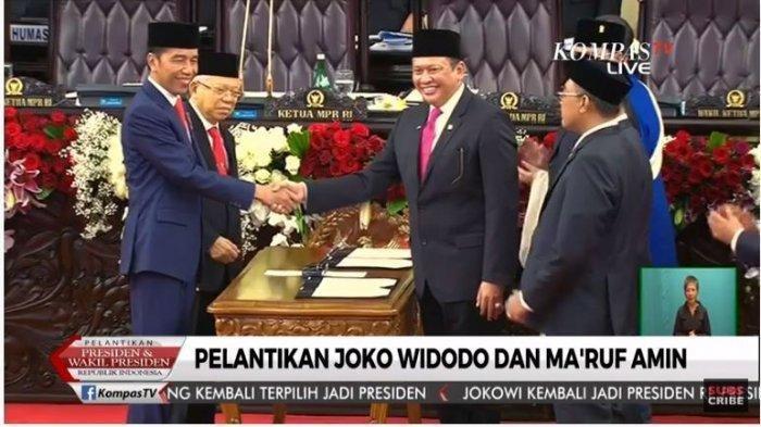 Prabowo Subianto, Sandiaga Uno & Jusuf Kalla Terima 'Penghormatan' saat Acara Pelantikan Presiden