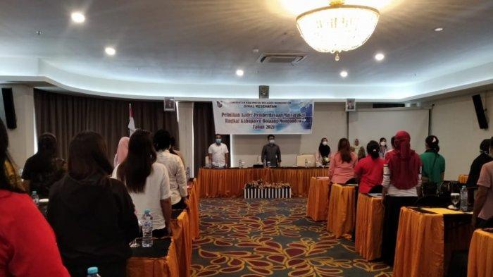 Pelatihan kader pemberdayaan tingkat kabupaten Bolmong tahun 2021 yang digelar di Kotamobagu.