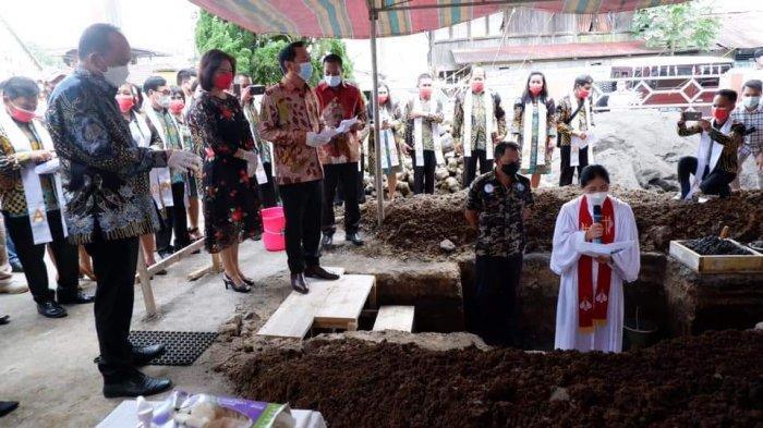 Peletakan Batu Pertama Renovasi GMIM Sarongsong Tumatantang, Ini Pesan Wali Kota Tomohon