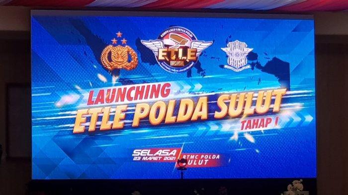 peluncuran ETLE di Polda Sulut, Selasa (23/03/2021).