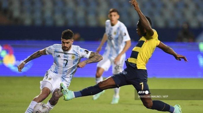 HASIL Babak Pertama Argentina vs Ekuador Copa America 2021, Assist Messi Bawa Tim Tango Unggul 1-0