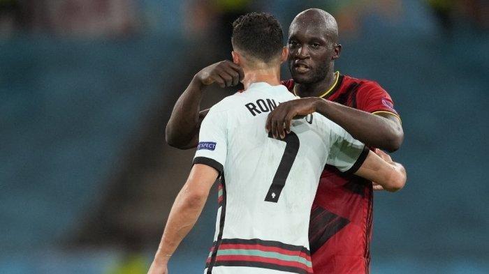 Romelu Lukaku dan Raheem Sterling Depak Christiano Ronaldo dari 'Team of The Tournament' Euro 2020