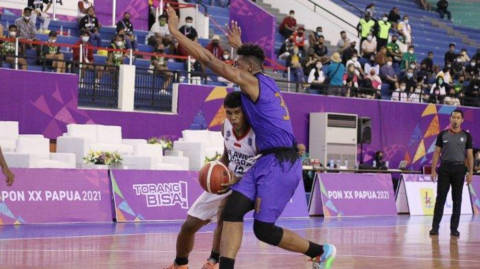 Kalah dari Papua, Basket Putra Sulut Mulus Melenggang ke Semifinal PON XX Papua