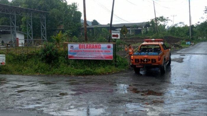 Gunung Lokon Status Waspada, BPBD Tomohon Sebar Baliho Larangan Pendakian