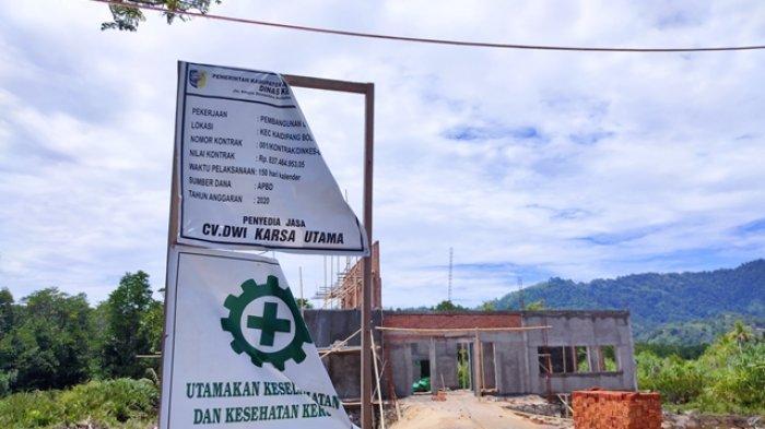 Sempat di Sorot Komisi III DPRD, Dinkes Bolmut Bantah Pembangunan Gedung PSC Gunakan Air Asin