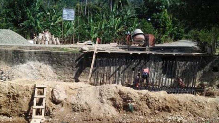 Pembangunan Kuala Asam Masuk Tahap Abutment, Segini Anggarannya!