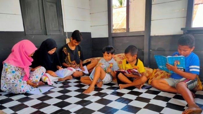 Pembelajaran daring yang dilakukan anak-anak di Kota Kotamobagu saat masa pandemi