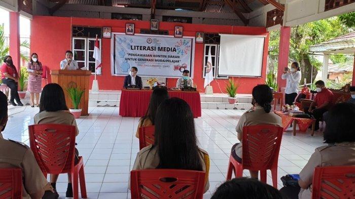 KPID Sulut Gelar Literasi Media Bagi Pelajar di Kabupaten Sitaro