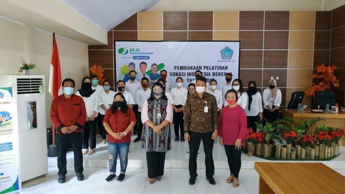 74 Peserta Ikuti Pelatihan Vokasi Indonesia Bekerja yang Digelar BPJamsostek dan Disnakertrans Sulut