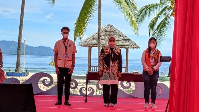 Pembukaan Pemagangan 5 Destinasi Wisata Super Prioritas oleh Menaker Ida Fauziyah dan Gubernur Sulut, Olly Dondokambey di Paradise Hotel and Resort, Likupang, Minut, Jumat (24/09/2021).
