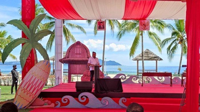 Pembukaan Pemagangan 5 Destinasi Wisata Super Prioritas oleh Menaker Ida Fauziyah dan Gubernur Sulut, Olly Dondokambey di Paradise Hotel and Resort, Likupang, Minut, Jumat (24/09/2021)..