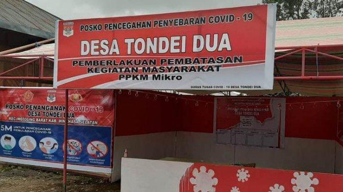 Pos PPKM di Kabupaten Minsel Tetap Siaga Meski tak ada Lagi Penambahan Kasus Positif Covid-19