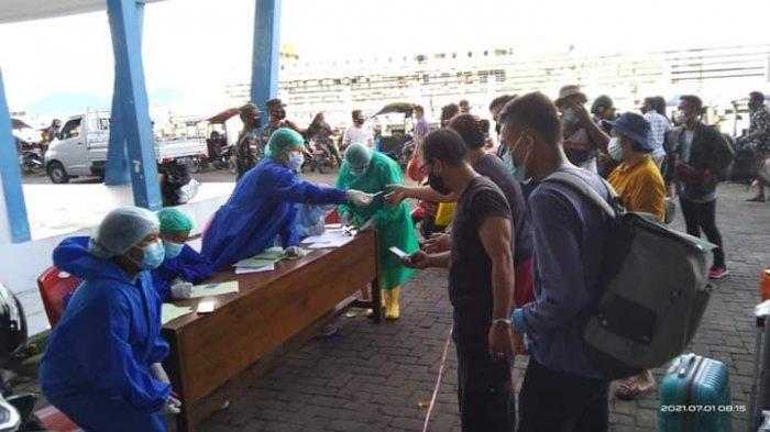 Antisipasi Penyebaran Covid-19,Pintu Masuk Pelabuhan dan Bandara Talaud Dijaga Ketat