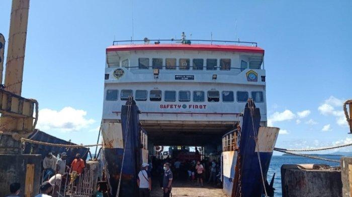 Kapal Ferry Antar Pulau di Talaud Akahirnya Beroperasi Kembali