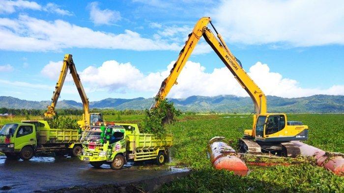 Pembersihan Enceng Gondok di Danau Tondano Terus Dikebut, Telan Anggaran 25 Miliar