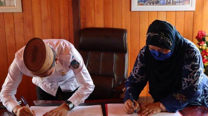 Pemkab Bolsel didatangi Pihak Kampus STIKES Bina Nusantara Gorontalo Teken MoU