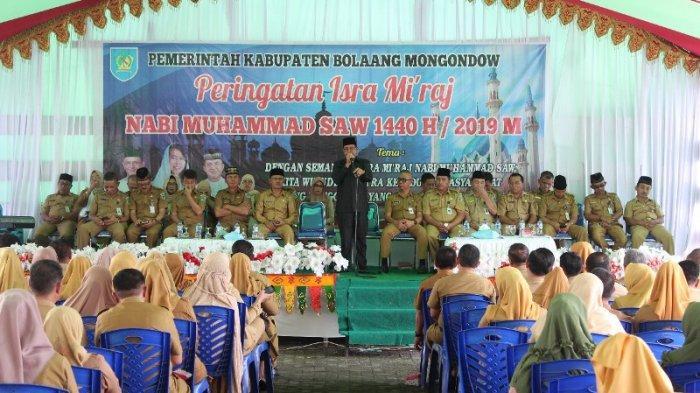 Pemkab Bolmong Menggelar Peringatan Isra Mi'raj