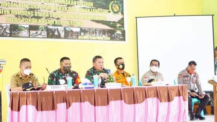 Pemkab Bolmut Gandeng TNI Gelar Latihan Penanggulangan Bencana Alam