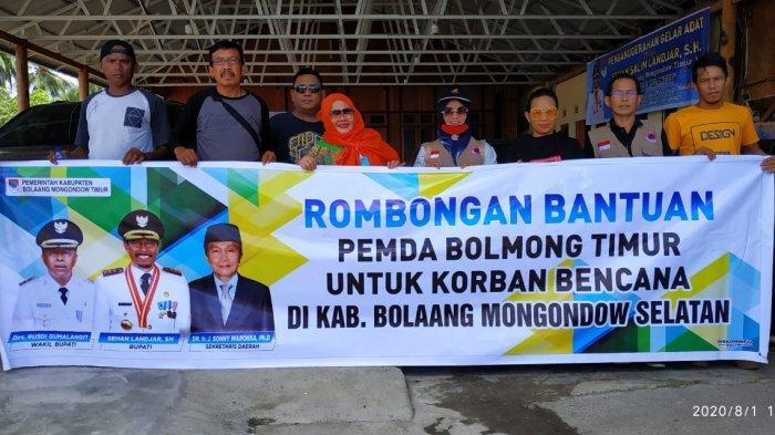 Peduli Kemanusiaan, Pemkab Boltim Salurkan Bantuan untuk Korban Bencana Alam di Bolsel-Bolmong