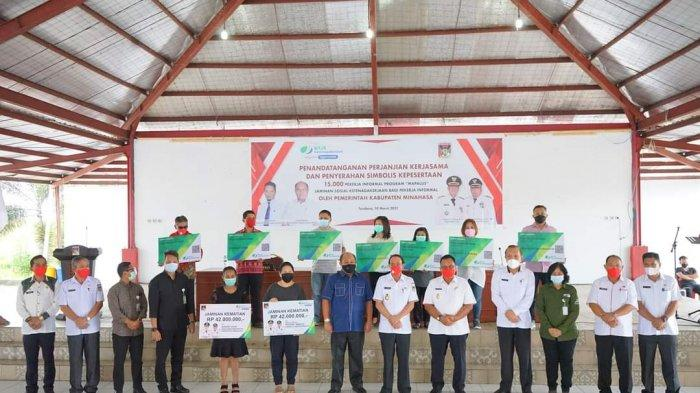 Pemkab Minahasa Beri Perlindungan kepada 15.000 Pekerja Mapalus Melalui BPJS Ketenagakerjaan