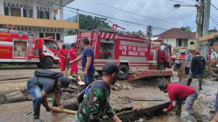 Pemkab Minut Kirim Bantuan Penanganan Pasca Banjir di Mitra