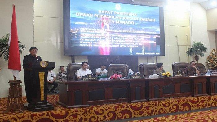 Walikota dan Wakil Walikota Manado, Hadiri Rapat Paripurna DPRD Manado