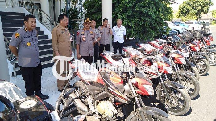 Pemprov Sulut Hibahkan Puluhan Sepeda Motor ke Aparat Keamanan