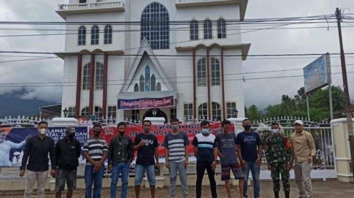 Toleransi di Boltim, Pemuda Muslim Modayag ikut Amankan Ibadah Natal