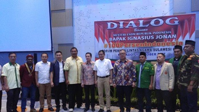Dihadiri Ignatius Jonan, Pemuda Sulut Gelar Dialog '100 Persen Indonesia',Ternyata Ini Maksudnya