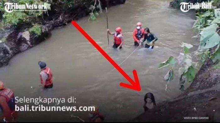 Video Penampakan Wanita saat Evakuasi Korban Kecelakaan di <a href='https://manado.tribunnews.com/tag/sungai-petanu' title='SungaiPetanu'>SungaiPetanu</a>, Bali.