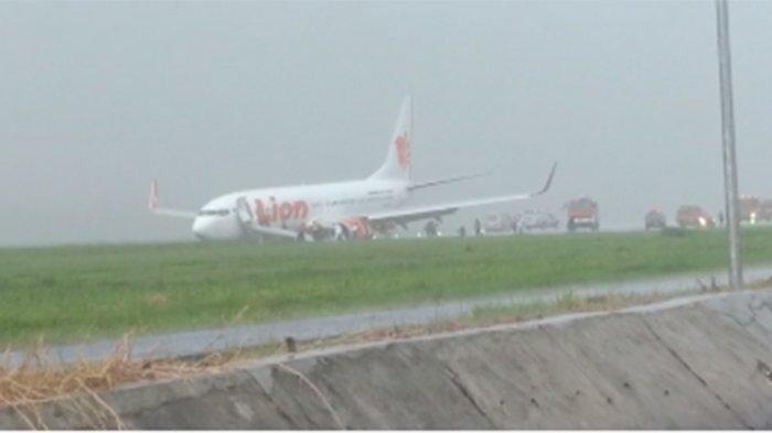 Pesawat Lion Air Tergelincir di Bandara Lampung saat Hujan Deras, Ini Dugaan Penyebabnya